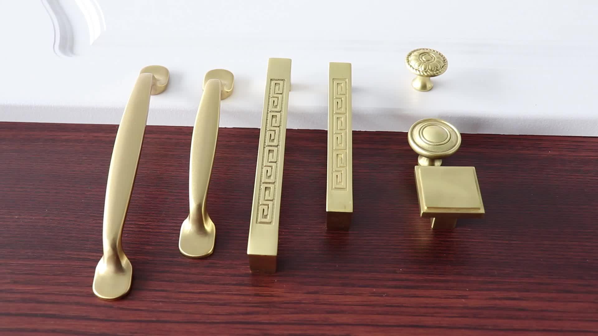 Satin Brass Closet Handle Design C 9999