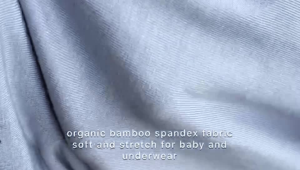 95%bamboo 5%spandex smooth custom printing organic bamboo fabric wholesale