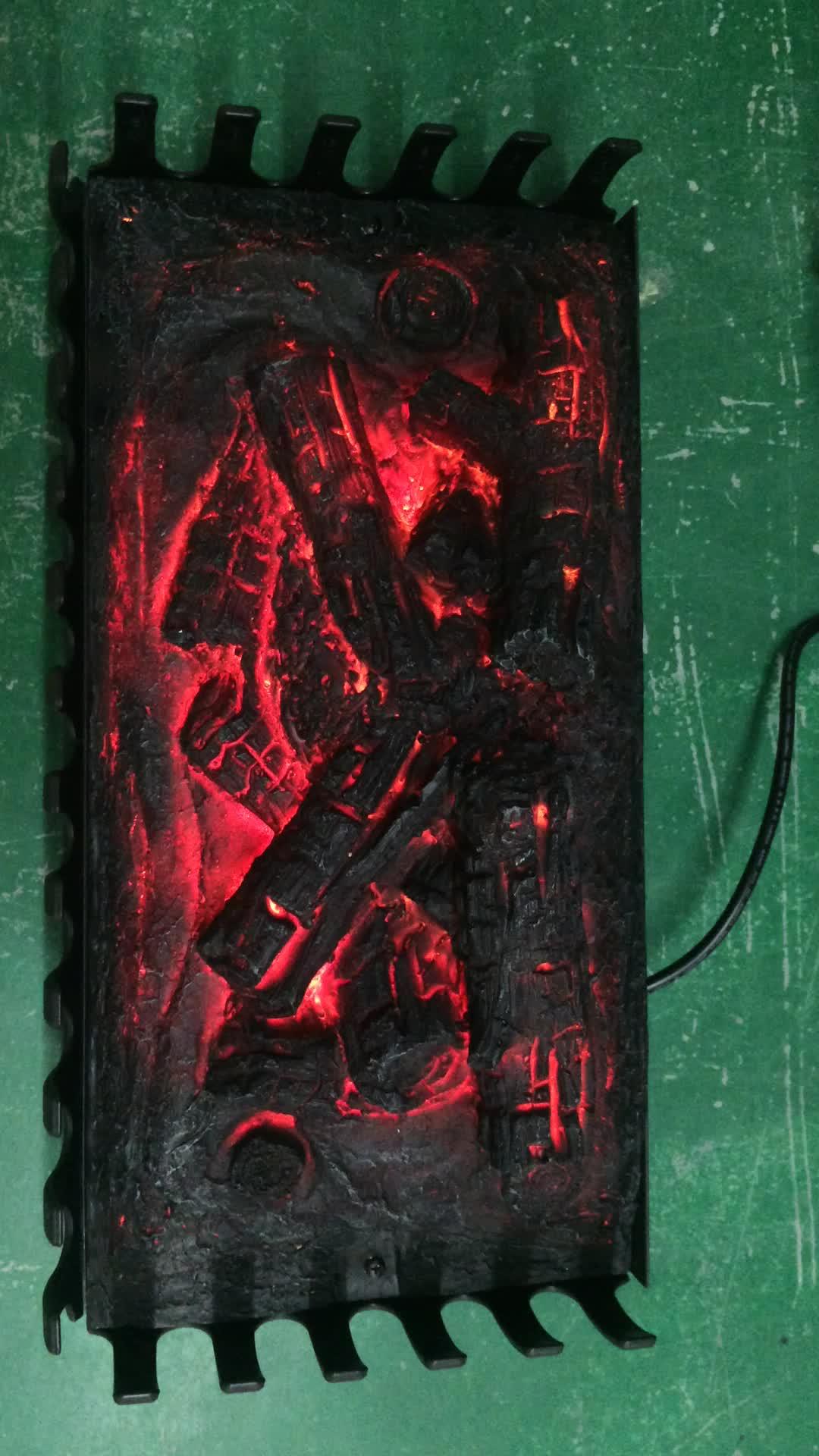 Fornitore professionale di log decorazione della resina acciaio inox inserto del camino con il prezzo competitivo LJIF1802