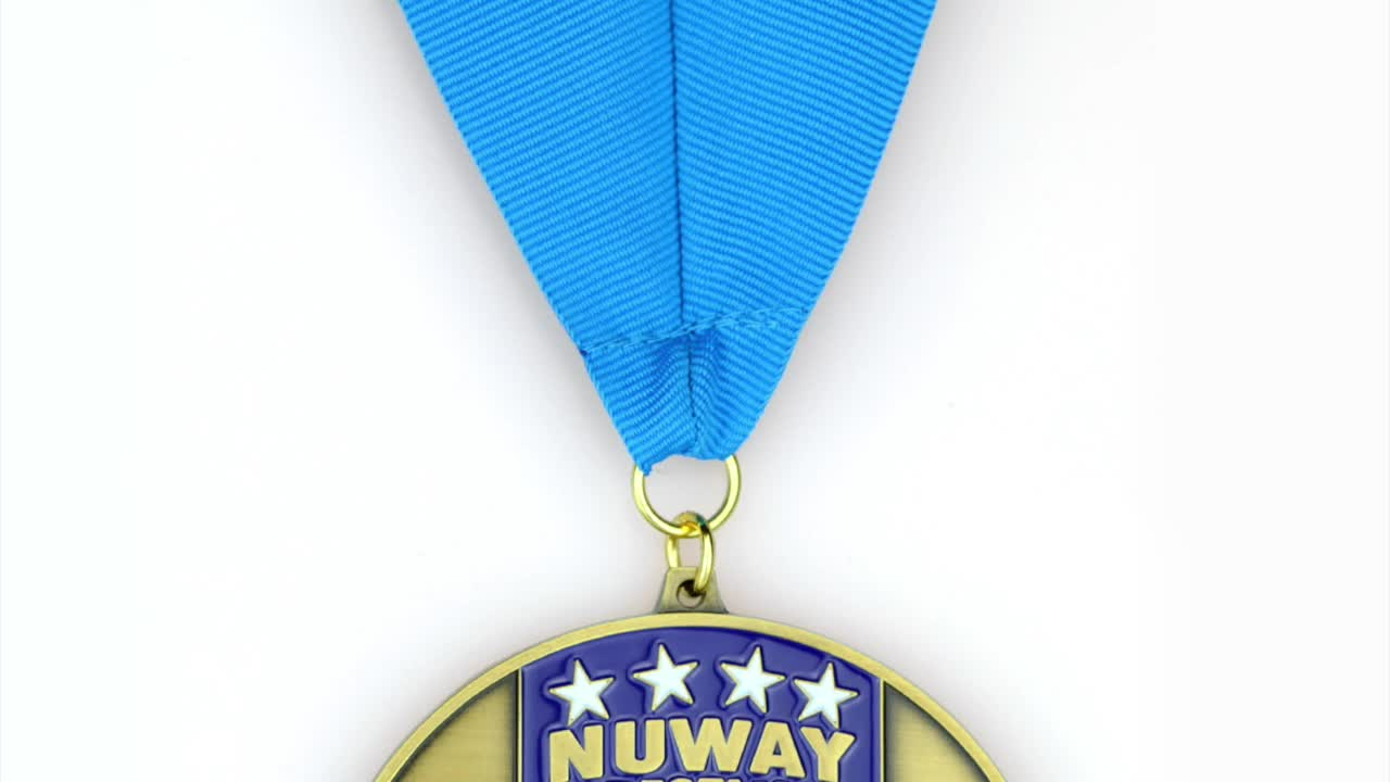 Factory Promotional Cheap Custom Metal Sport Medals With Ribbon
