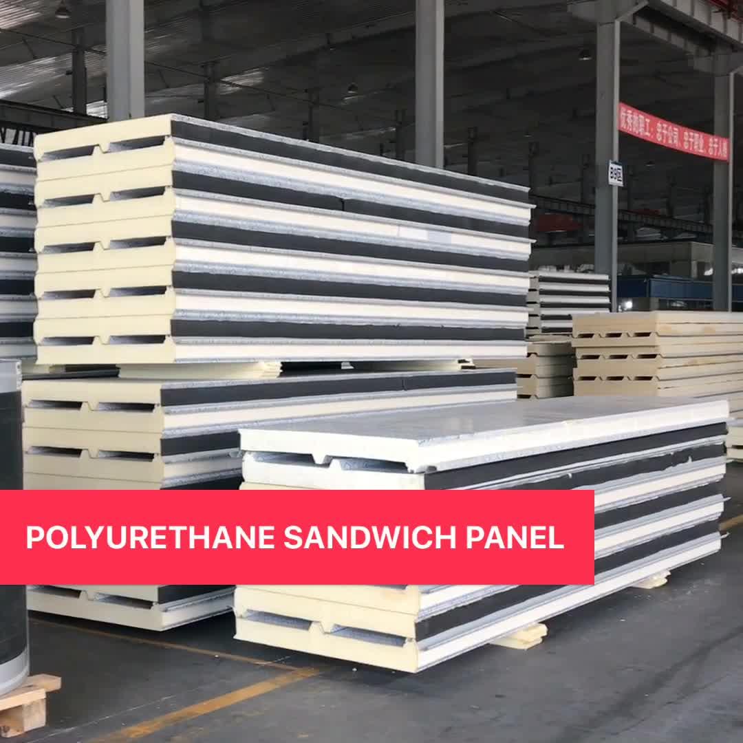 Polyurethane Sandwich Panel : Puf polyurethane foam sandwich exterior wall panels panel
