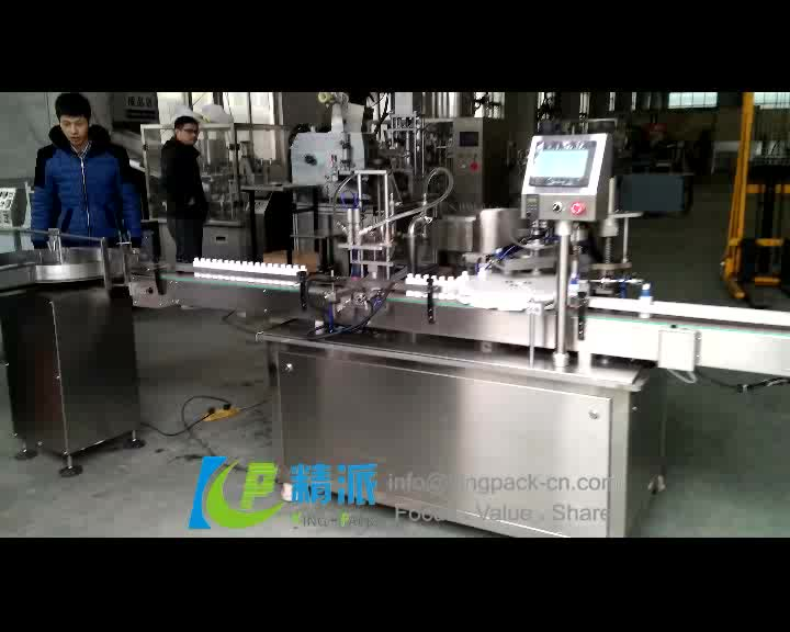 CE certified cleaning laundry detergent liquid filling and capping and labeling machine