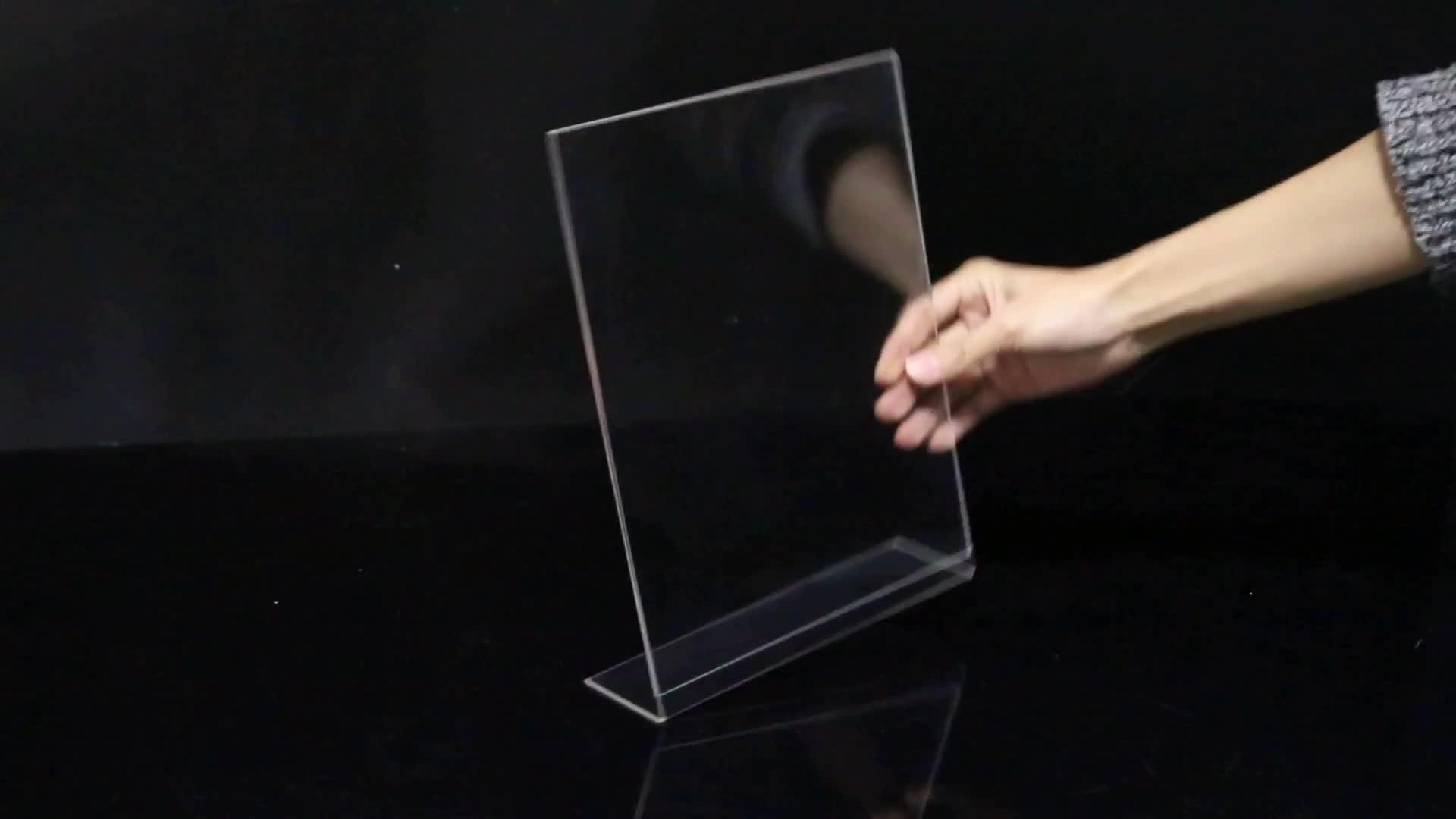 Vrijstaande Folder Display Stand a4 Acryl Poster Menu Houder 8.5X11 Inches Acryl Slant Terug Teken Houder