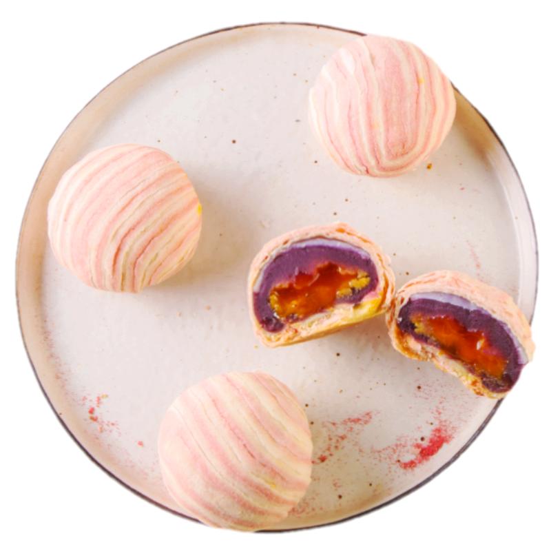 米雅玛朵流心海鸭蛋黄酥雪媚娘麻薯面包手工老式传统糕点零食小吃