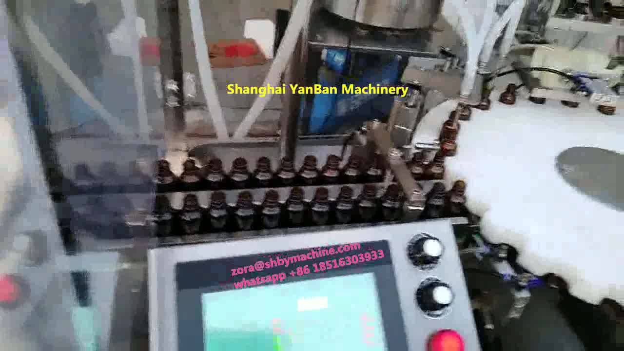 High speed fully Automatic essential oil small perfume cosmetic bottle filling machine shanghai factory