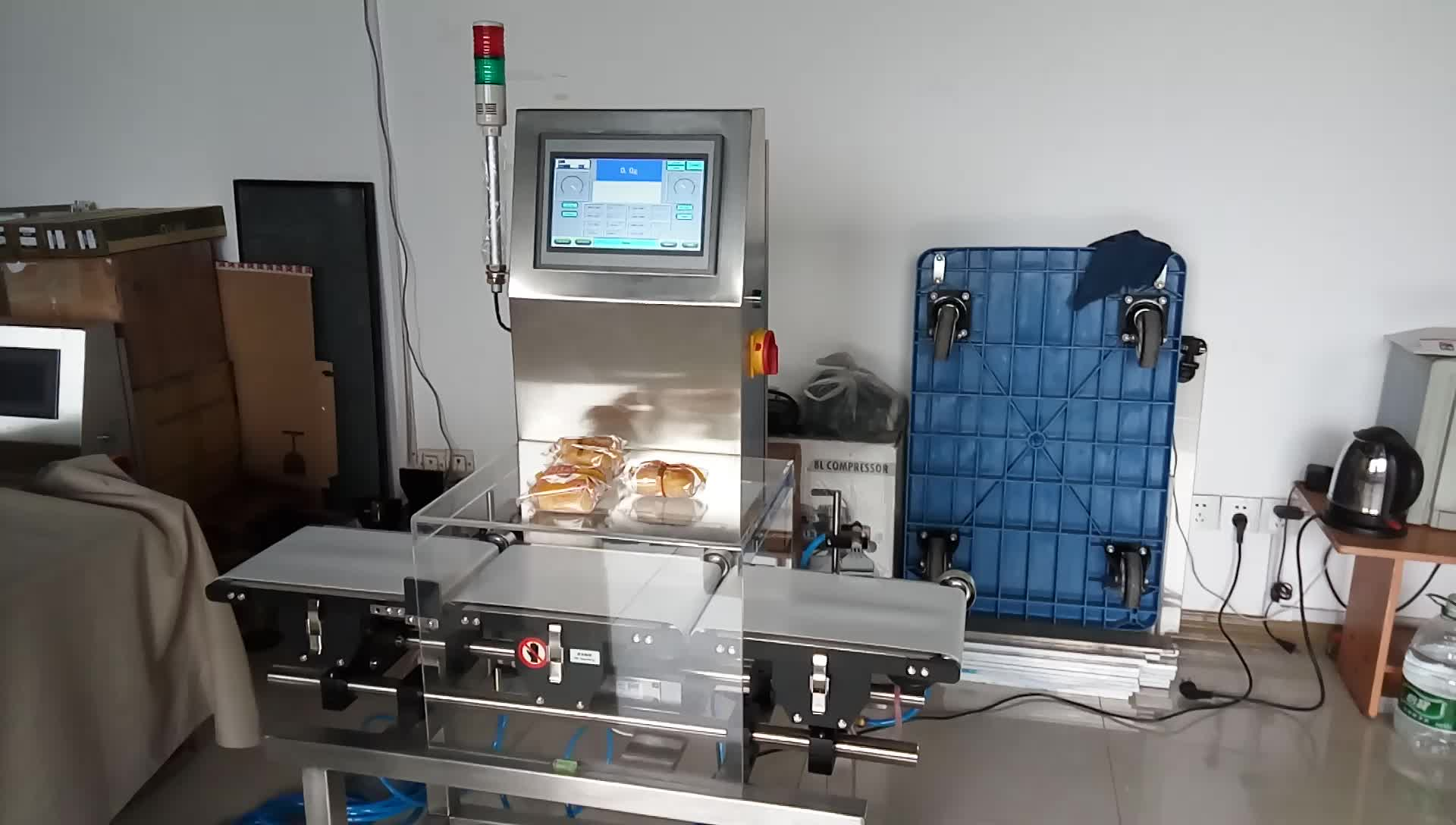 Digital check weigher checkweigher with air reject system for food industry