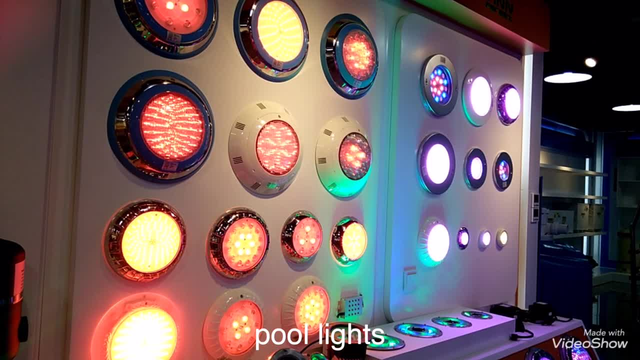 Waterproof Par 56 RGB Multi Color Wall-installed Swimming Pool Light Led
