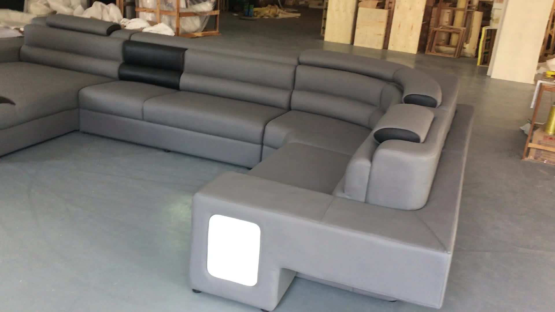 Made In Italy Leather Luxury Contemporary Furniture Set: Luxury Modern Furniture Sectional Sofa Italian Leather