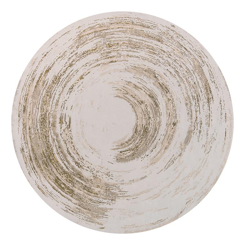 新中式圆形水墨书房印花水洗椅地垫评测参考