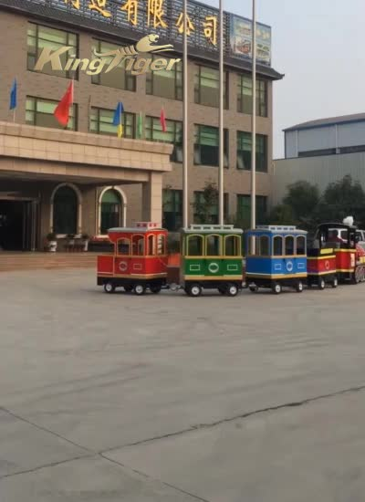 Colorful New Design Amusement Park Rides Trackless Train for Sale