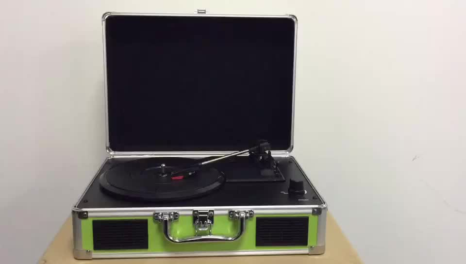 Portable Vinyl Record Player , Audio Turntable Player , Bluetooth Suitcase Turntable