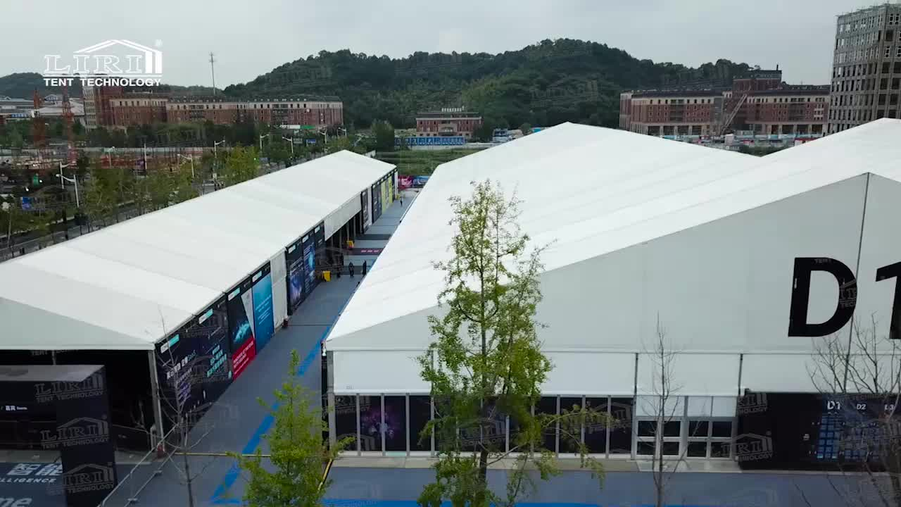 40x100m Exhibition Tent Outdoor Event Tent for 8000 People