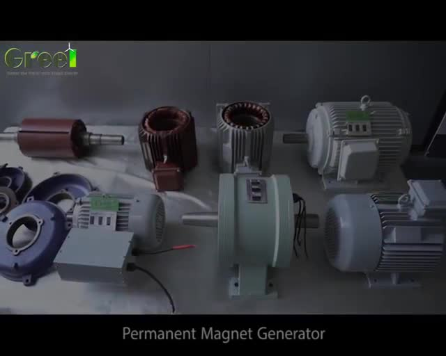 1kW 10kW 100kW 1mW Permanent Magnetic Generator, low RPM high torque PMG