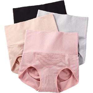 3条3d蜂巢暖宫产后收腹女裆三角裤