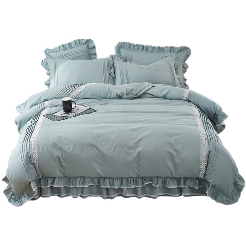 床上四件套全棉蕾丝公主风床裙评价好不好
