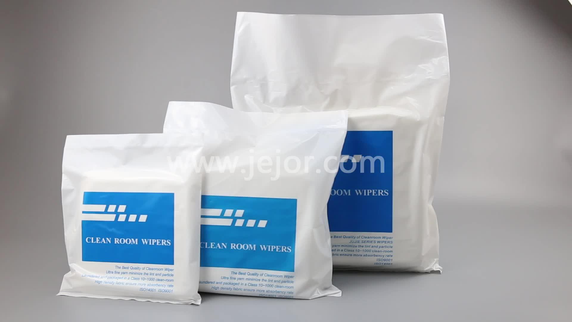 9 ''x 9'' Klasse 1000 Lint Gratis Hot Verkoop Clean Microfiber Cleanroom Wisser 8009