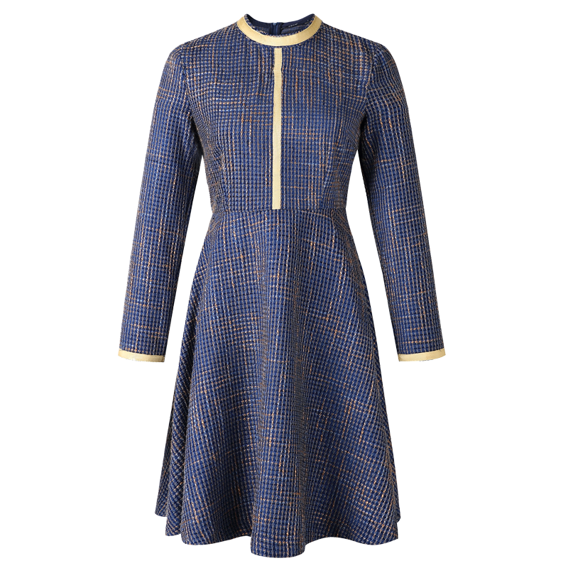 冬装女2019新款成熟风女装法式修身娃娃领加绒蕾丝连衣裙女秋冬季