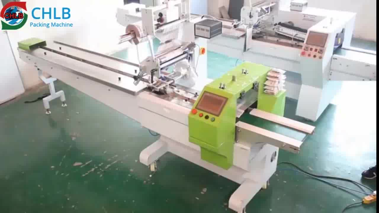 CB-500S full servo horizontal automatic pouch bread  packing machine food pillow packaging machine