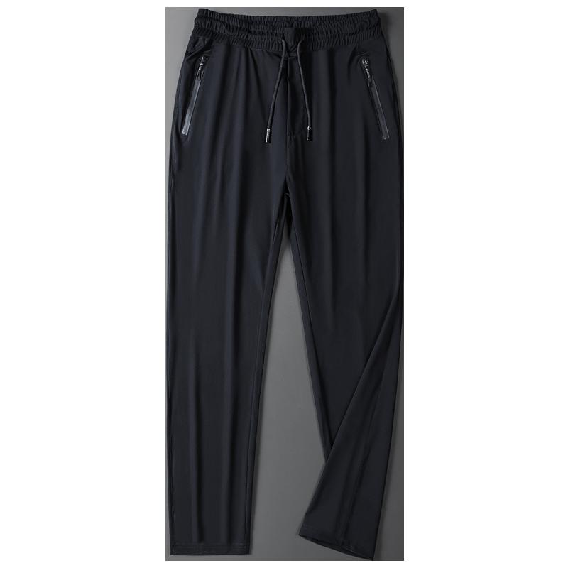 冰丝运动裤男士夏季透气速干直长裤筒