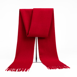 恒源祥纯羊毛男本命年中国红色围巾