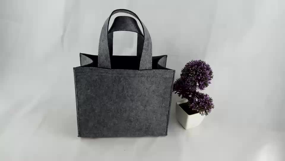 Einfache Einkaufstasche aus Filz mit individuellem Logo