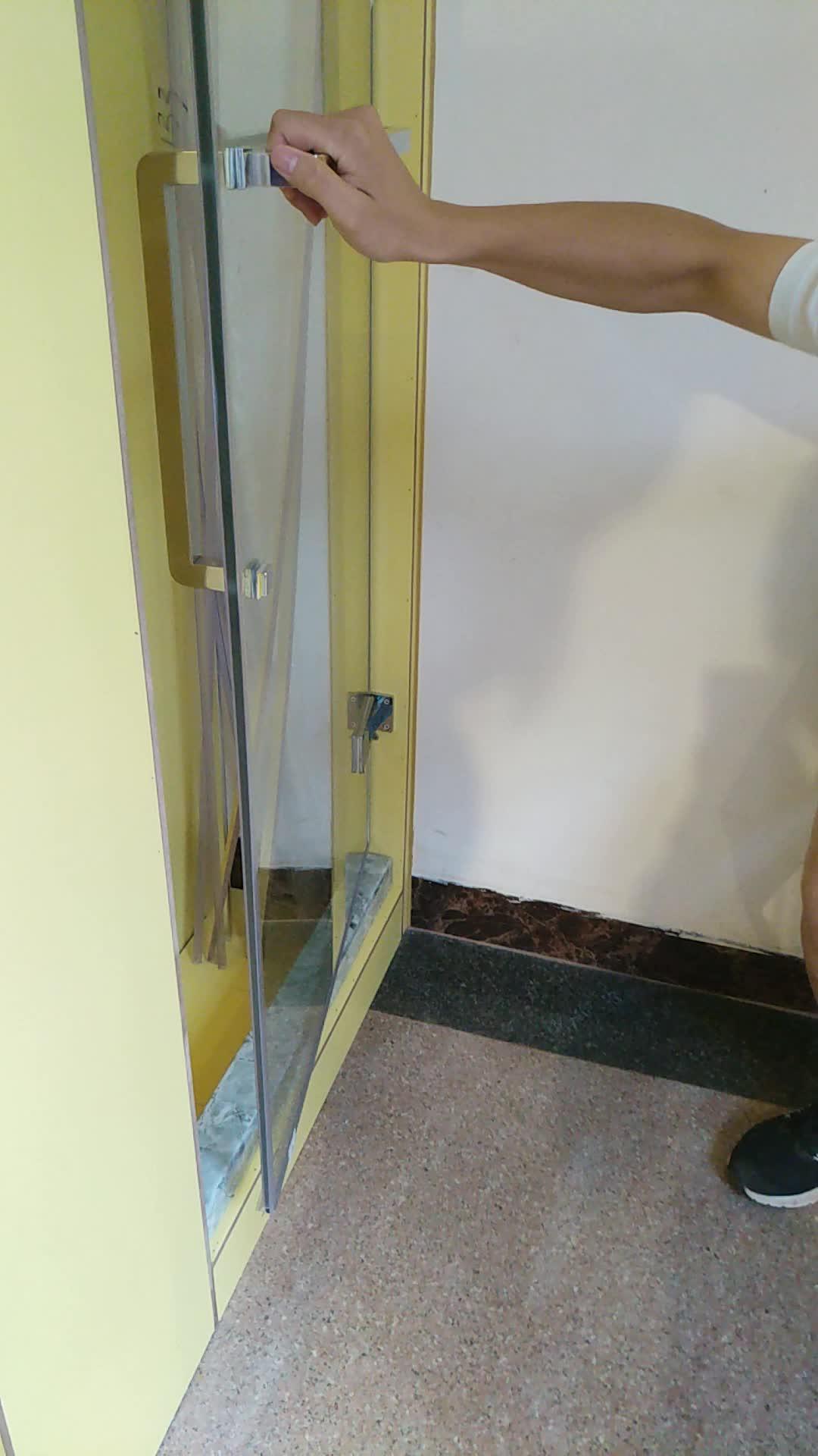 Led Su Geçirmez Şerit Sürgülü Cam Duş Kapı için Su Tutucu Bar