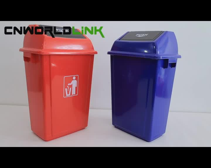 Hotel Kitchen Plastic Garbage Foot Step Waste Bin With Pedal
