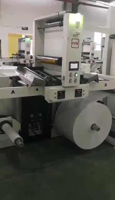 DINGYU Machinery automatic butt splicer set with ci flexo printing press save time and material