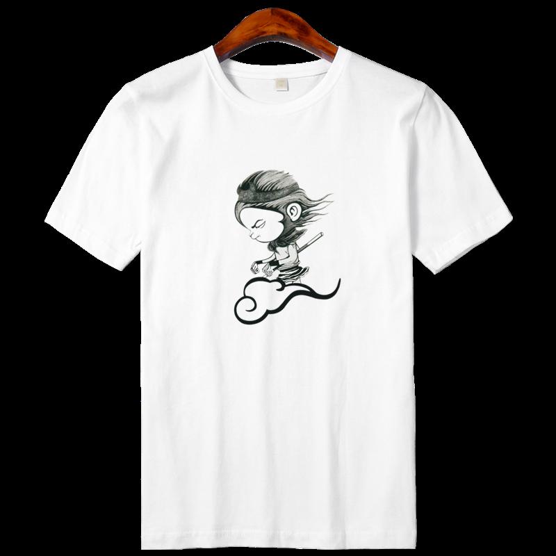 男士短袖t恤新款男装潮牌潮流白色打底衫男衣服纯棉半袖体恤夏装