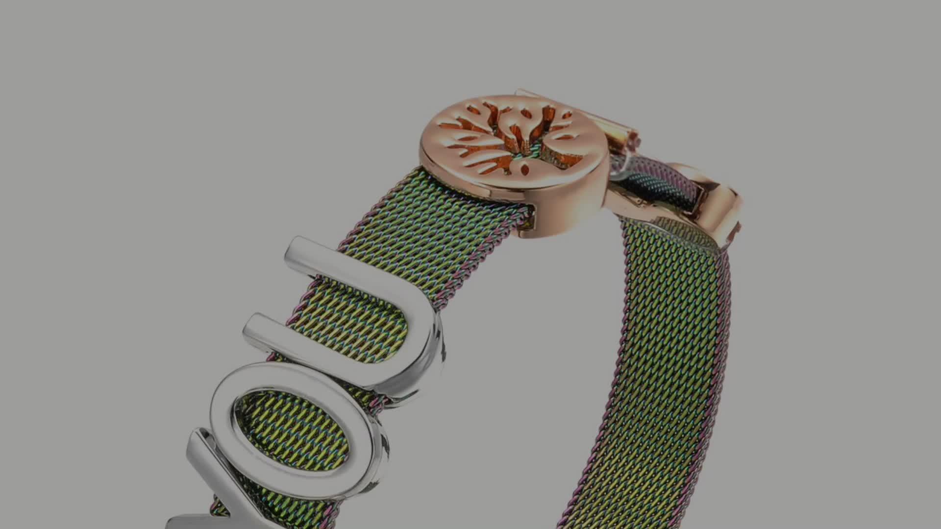 Personnalisé Or Cristal Maille Bracelets de Charme Pour Les Femmes