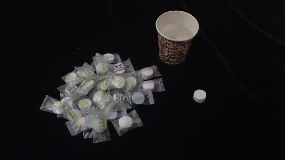 Tube shape 10 pcs/tube portable mini round compressed towels tube