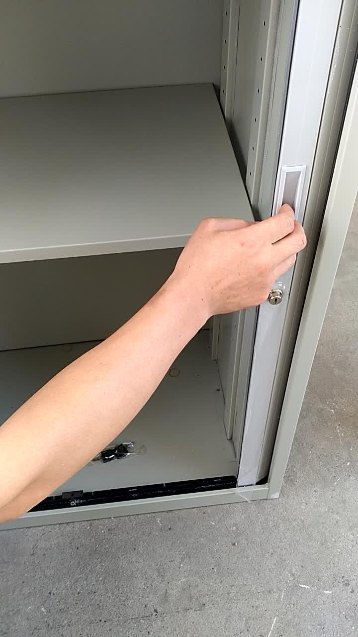 Pembukaan Horizontal Plastik PVC Tambel Pintu Kabinet Roller Shutter Pintu untuk Lemari Dapur