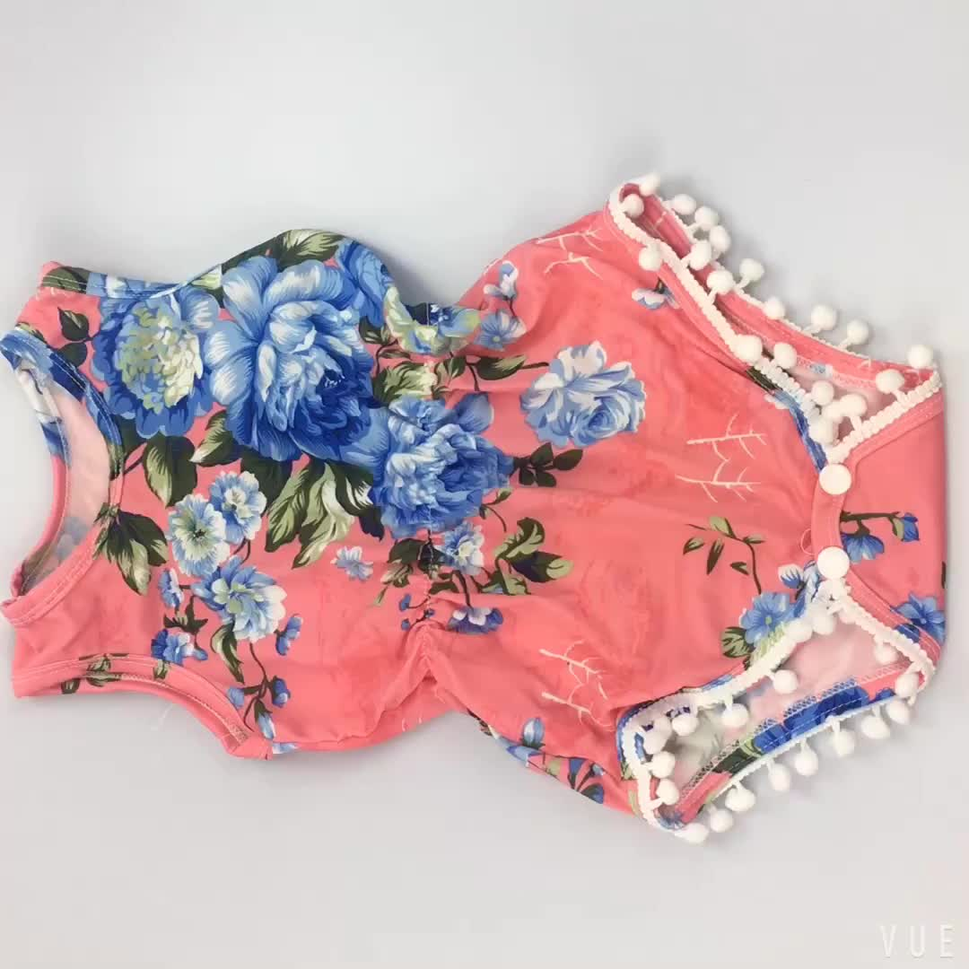 Fashion Design Neonate Vestiti Grigi Fancy Pom Pom Pagliaccetto Set Con Le Fasce