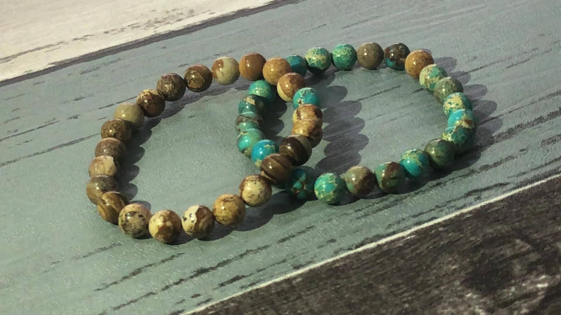 SN1738 Yoga Meditation Healing Jewelry For Men Gift Buddha Bracelet Mens Red Carnelian & Emperor Jasper Mala Beads Bracelets