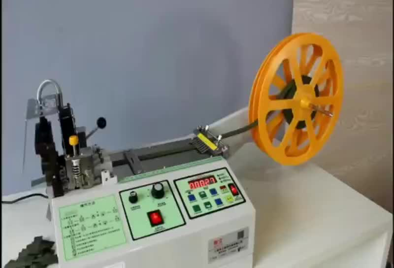 automatic computer controlled hot & cold knife fabric tape cutting machine