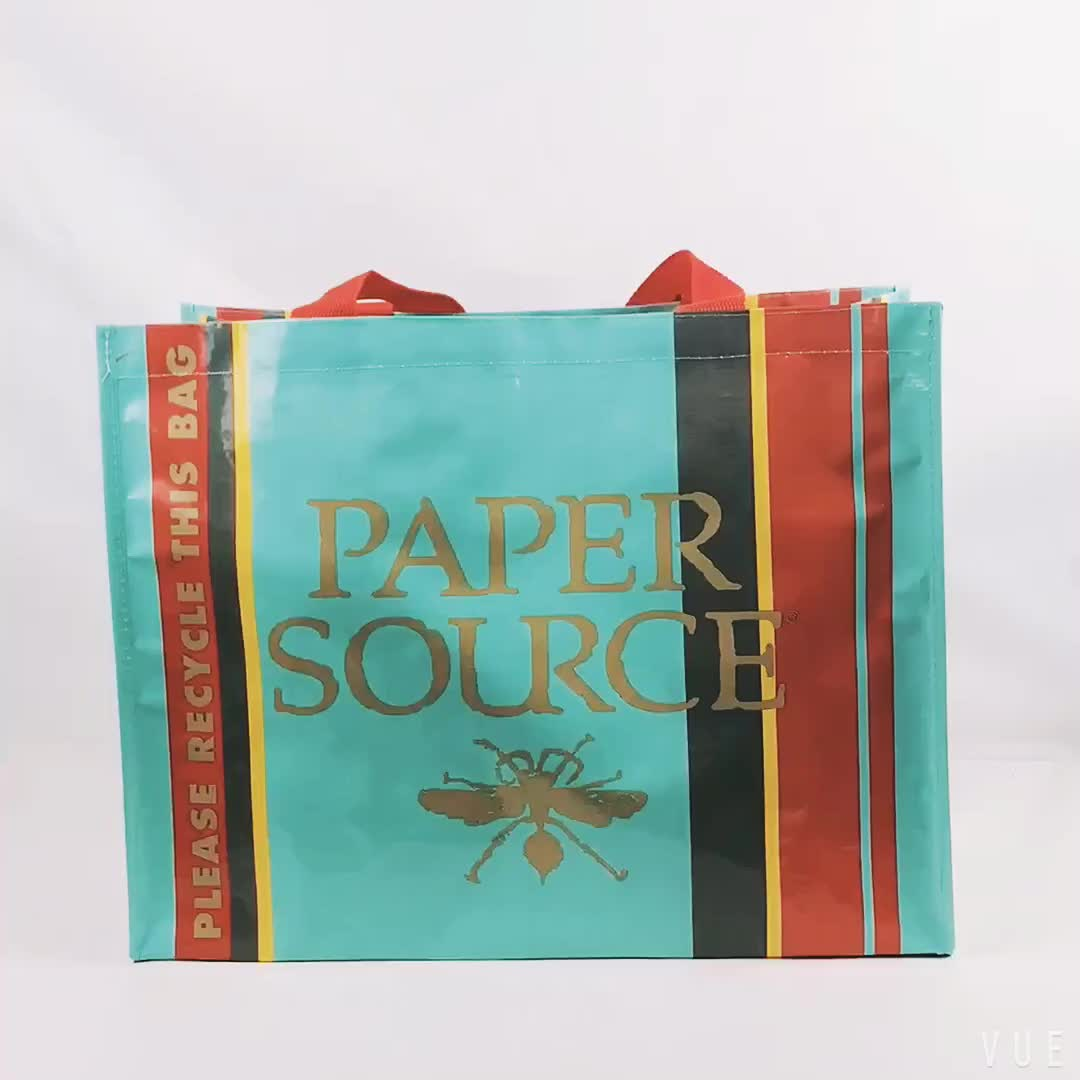 Customized laminated colorful  PP woven bag for sale