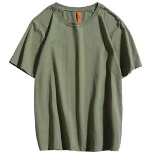 纯棉纯色短袖t恤白色情侣打底衫