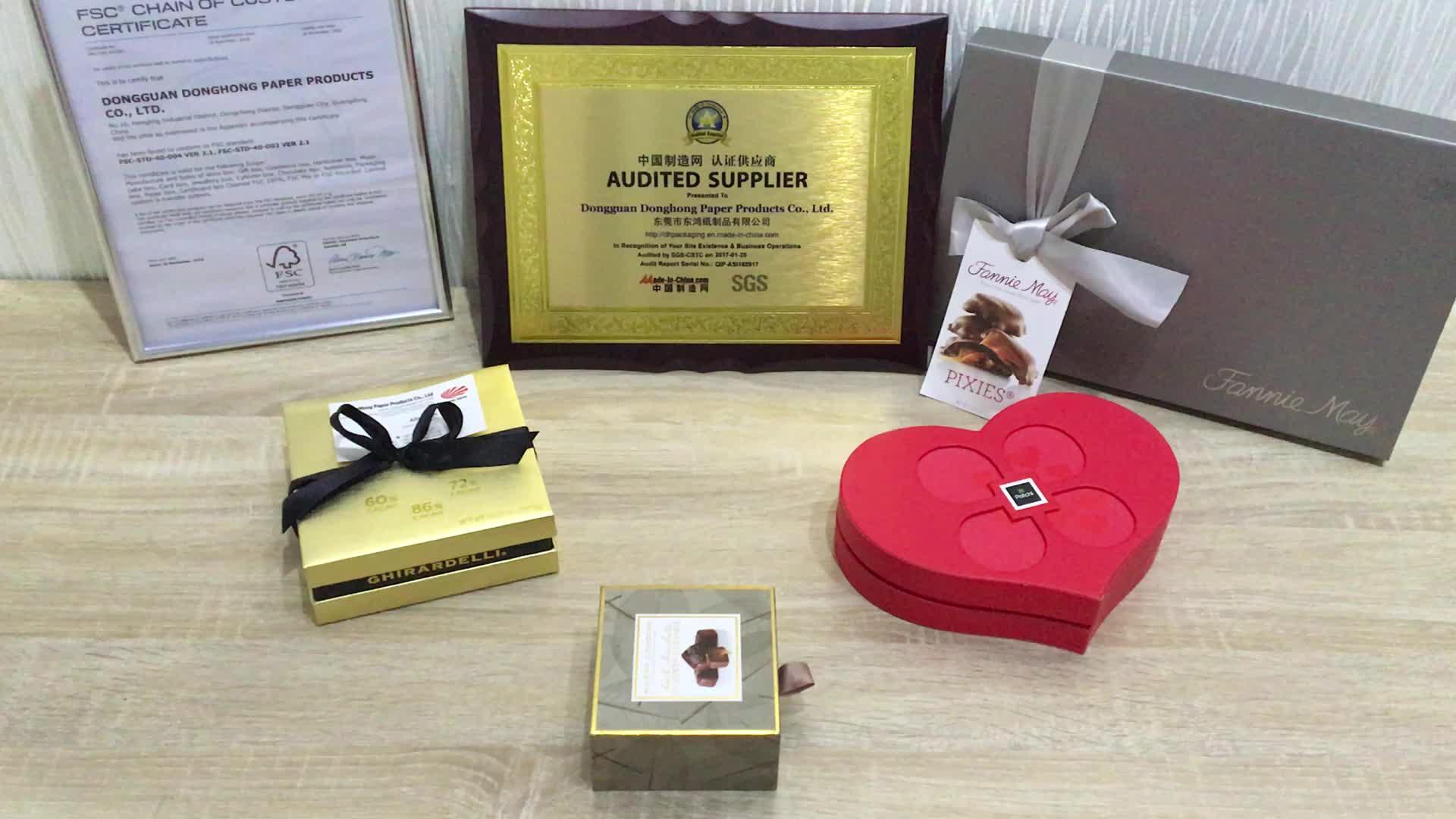 Di fabbrica Su Misura Confezione regalo di Lusso Dell'invito di Cerimonia Nuziale Scatola di Carta