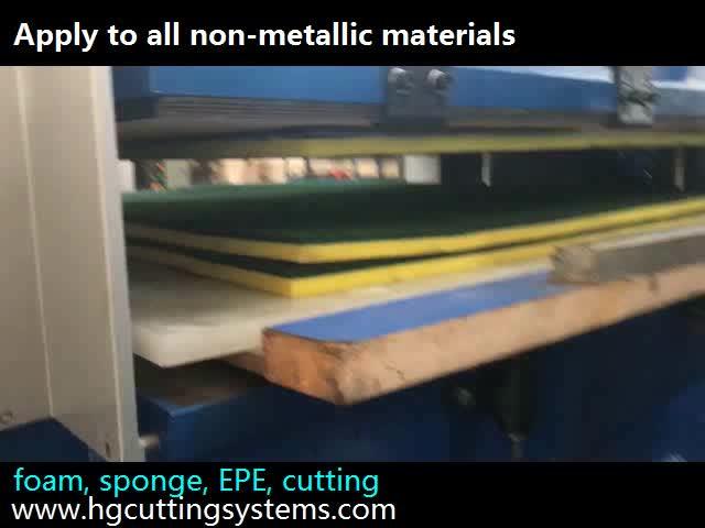 परिशुद्धता हाइड्रोलिक ईवा रबर एकमात्र प्रेस काटने की मशीन