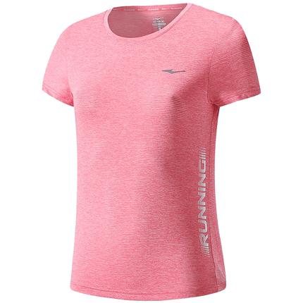 鸿星尔克运动t恤女 2020夏季运动服休闲轻薄透气运动T训练服上衣