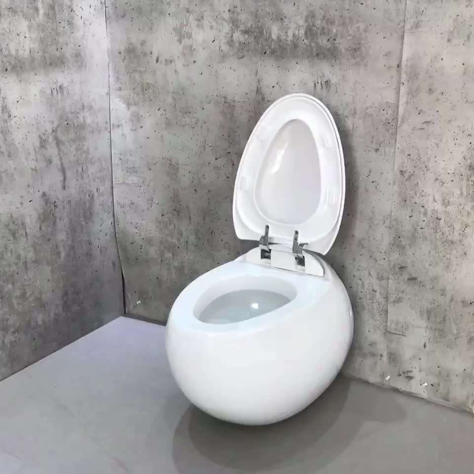 European Standard Round Wall Hung Toilet Wall Mounted