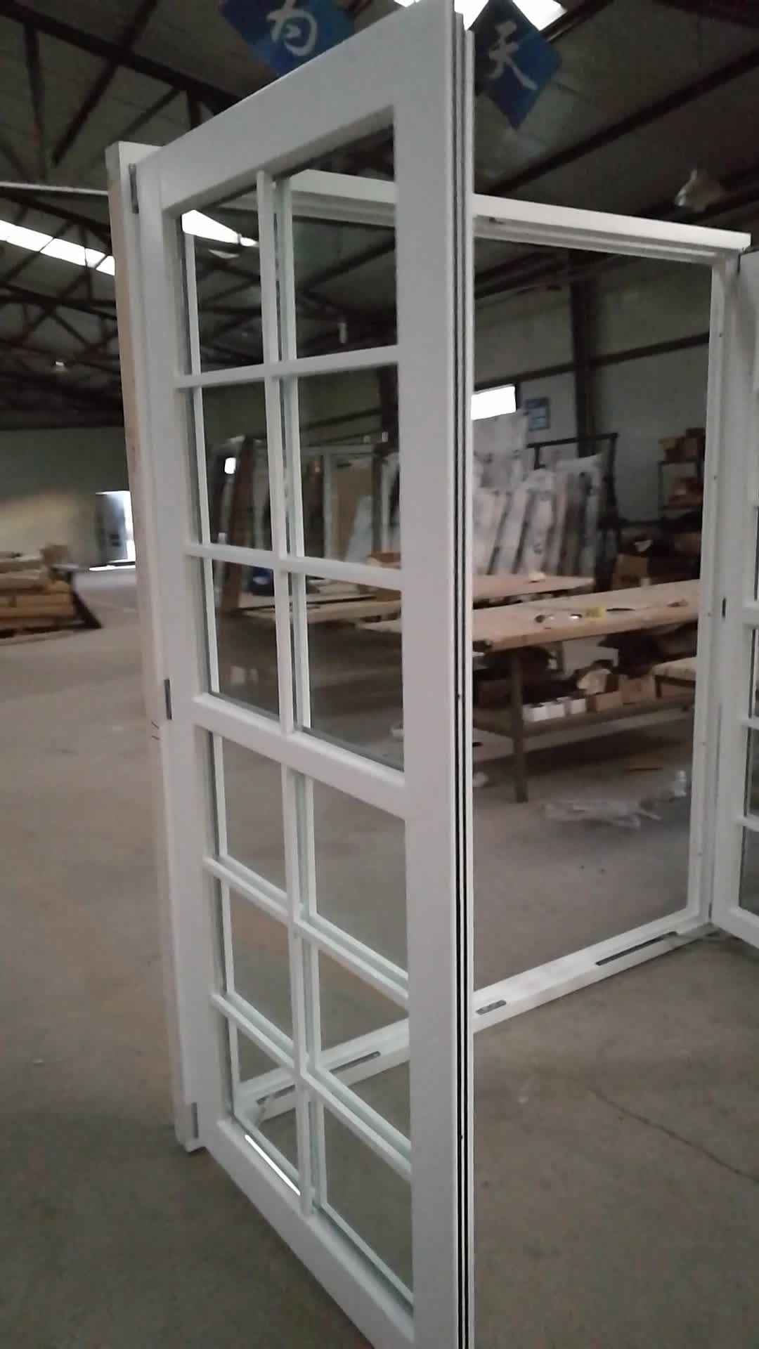 white stain pine timber wooden window with grill design