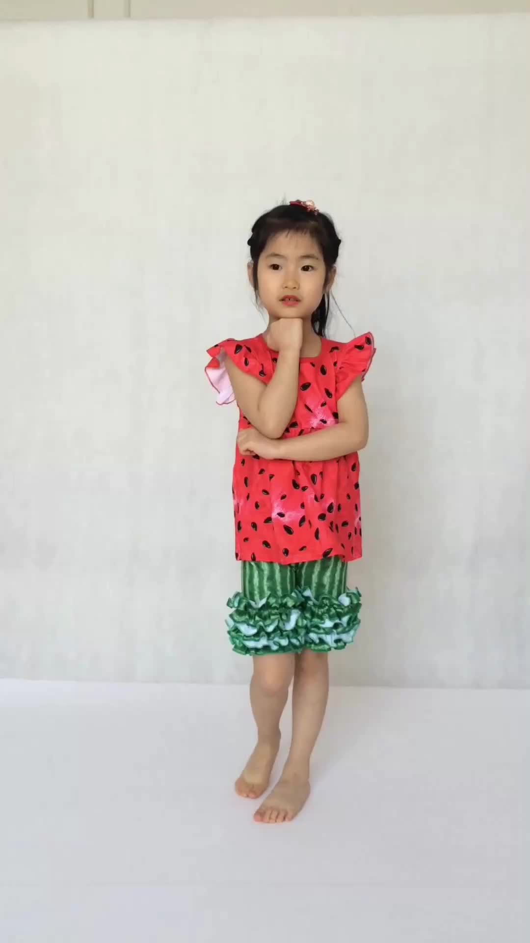 Wholesale Boutique Baby Girl Clothes Chinese Supplier Watermelon