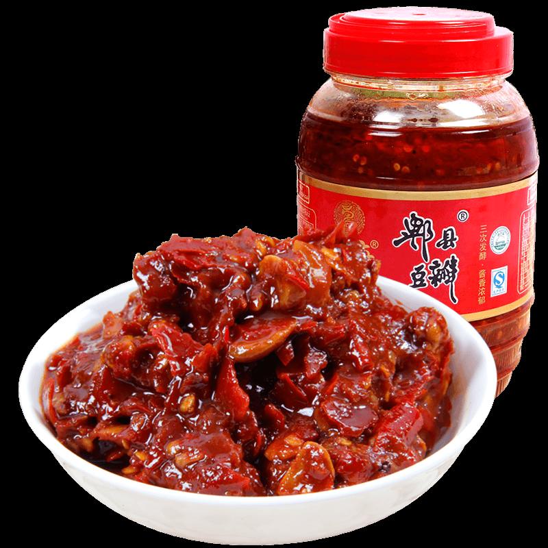 正宗蜀府红油郫县豆瓣酱1.1kg四川非特级辣椒酱家用炒菜专用调料
