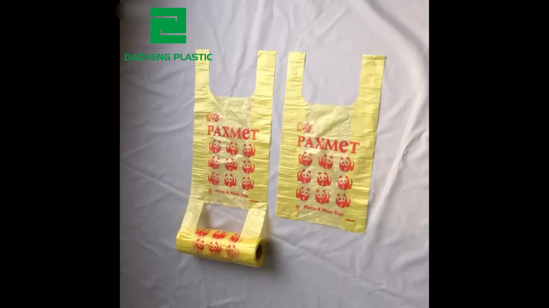 Biodegradabile Shopping bag Bag T-Shirt per Portare Fuori