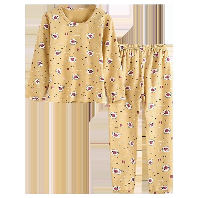 儿童睡衣纯棉套装男童女童家居服春秋薄款宝宝全棉秋季空调服长袖