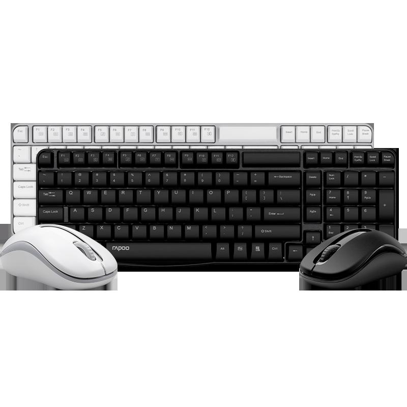 雷柏KM325可充电式无线键盘鼠标套装防水键鼠套装台式笔记本电脑轻薄游戏男女生办公家用商务省电无限键鼠
