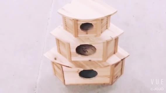 3ชั้นประกอบไม้บ้านหนูแฮมสเตอร์กรงสำหรับสัตว์เล็ก