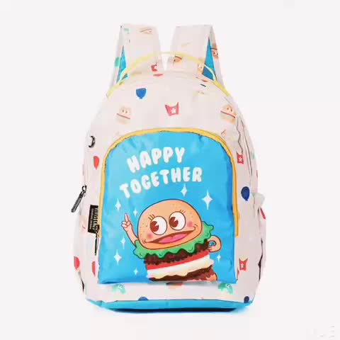 Oem Mochila Escolar Cartoon Character Book Bag Backpack Children Heat Transfer Printed Kids Young School Bags