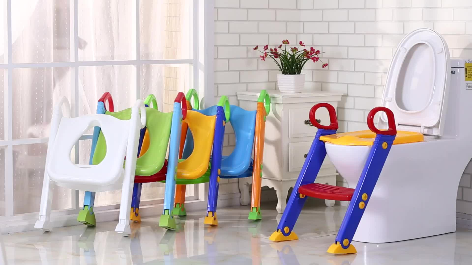 Foldable Baby Step Potty Training Seat Toilet Seat Stool With Ladder Buy Toilet Ladder Baby Potty Toilet Trainer With Ladder Product On Alibaba Com